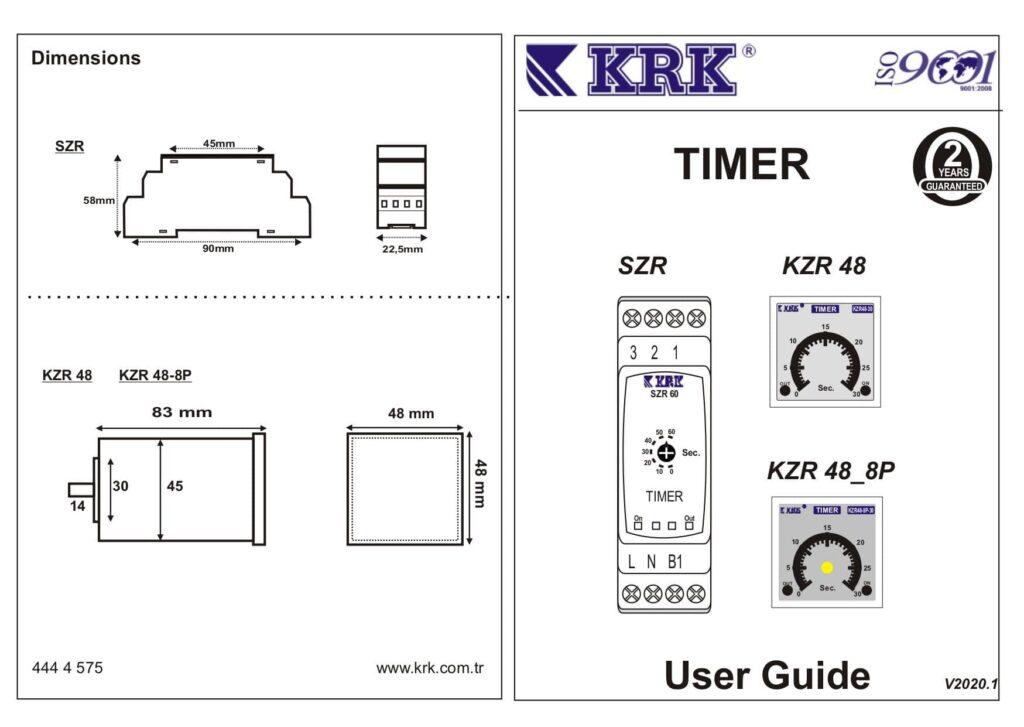 رله-تایمر-3-دقیقه-KRK-مدل-SZR-3M
