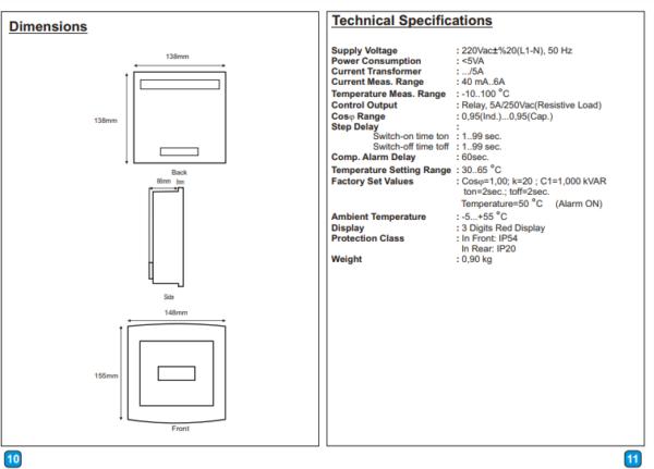 رگلاتور خازنی هشت پله KRK مدل 8 KPC
